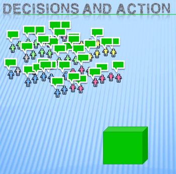 Decisions and action illustration