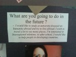 What are you going to do in the future